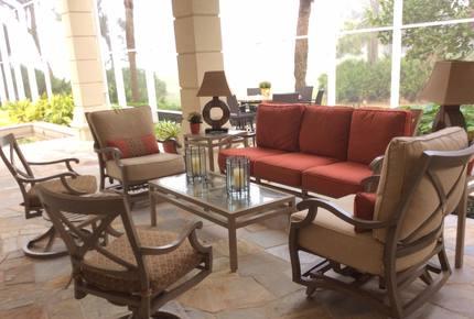 Bonita Bay Estate Home with glass walled dining room overlooking 10,000 gallon pond. - Bonita Springs, Florida