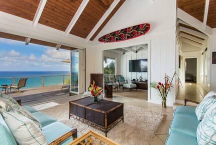 Direct Oceanfront Kauai North Shore. 4 bed/4 bath A/C - Princeville, Hawaii