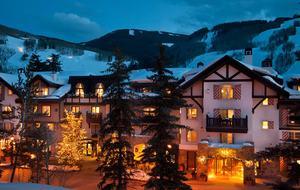 Austria haus exterior night