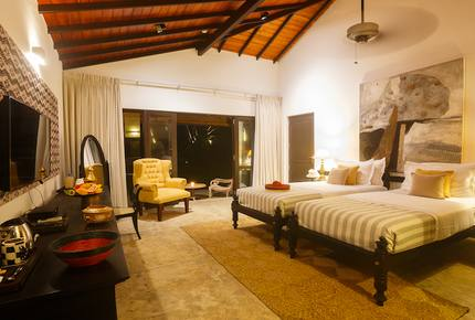 A Deluxe Room at Mosvold Villas