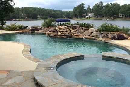 Luxurious Lake Front Home with Private Pool and Dock