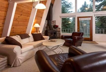 Modern A-Frame Lake Tahoe Cabin