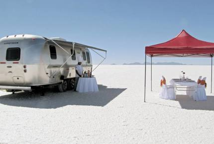 CURATED GLAMPING THE NIGHT AWAY - Salt Flats Airstream Dream, Bolivia