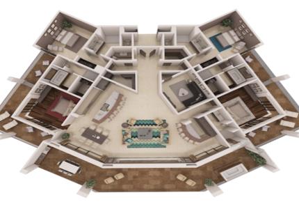 Diamante Ocean Club Residences Emerald 3 bedroom Suite - Baja California Sur, Mexico