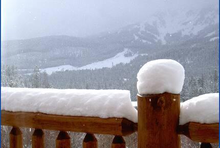 Bridger Vista Lodge - view ski slopes at Bridger Bowl - Bozeman, Montana