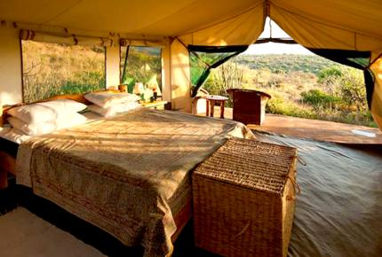 A Private Tent at Laikipia Wilderness Camp