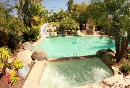 Tropical Estate with WaterFall Pool on The World's rated #1 Beach - Coronado, California