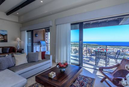 Quivira Golf resort, 1760 sq ft penthouse with own private rooftop BBQ kitchen, Firepit, & Jacuzzi with incredible Pacific Ocean views