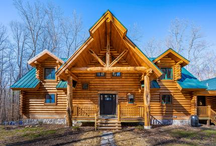 Custom Eco Solar Luxury Log Home at Sugarloaf Mountain