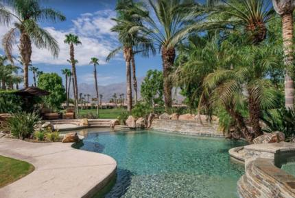 PGA West Luxury Home, outdoor oasis with waterfall - La Quinta, California