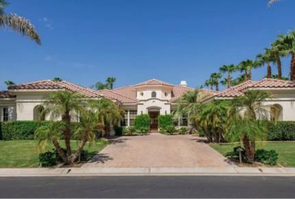 PGA West Luxury Home, outdoor oasis with waterfall