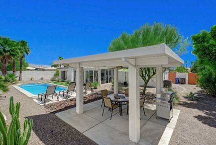 Mountain-View Gem with Sunroom, Pool & Bocce - Palm Springs, California