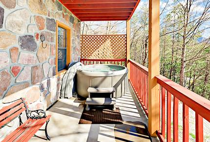 Wooded Retreat with Private Hot Tub & Game Room