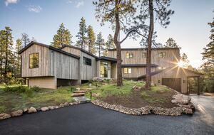 Panoramic exterior view of custom Durango Mountain Home