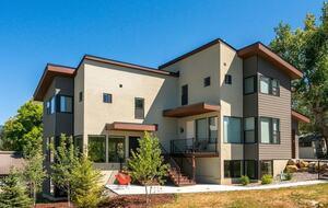 Exterior of ultramodern Steamboat Springs home