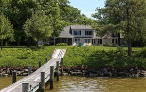 View of house & dock on Harris Creek
