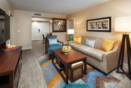 Home Exchange, Sheraton Kaua'i Resort, living room with couch & TV
