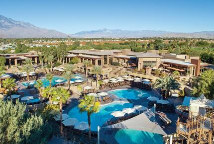 Home exchange at Westin Desert Willow, aerial view with multiple pools