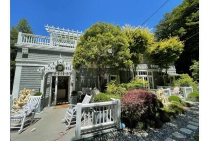 Home exchange in Mill Valley CA, beautifully landscaped front exterior