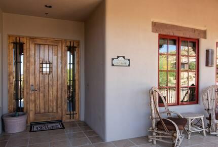 Home exchange in Scottsdale AZ, wooden front door
