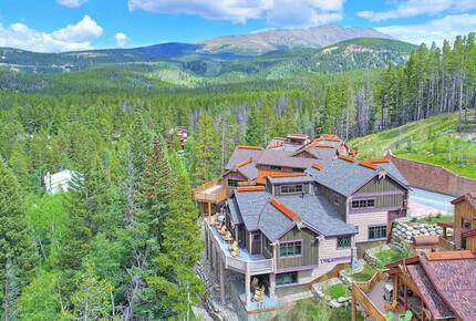 Home exchange in Breckenridge CO, aerial view of the estate