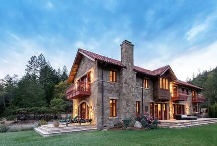Home exchange in Calistoga CA with multiple private balconies
