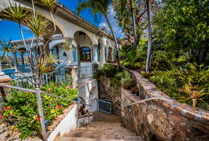 Home exchange in St John USVI, exterior stairs leading to ground level