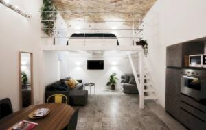 Home exchange in Rome Italy, 1 bedroom 1 bathroom loft sleeps 2