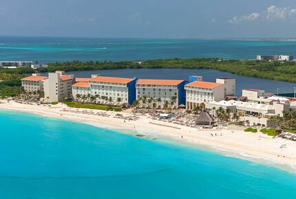 Home exchange in Cancun, aerial view of The Westin Resort & Spa