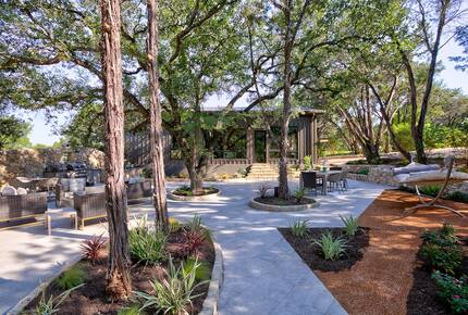 Home exchange in Spicewood TX with 1800 square foot patio