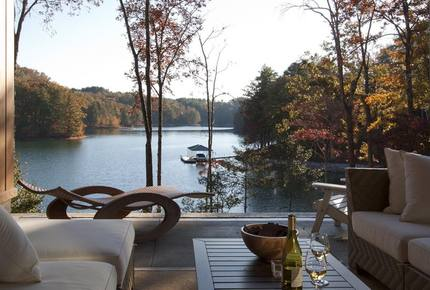 The Glass House on Lake Keowee