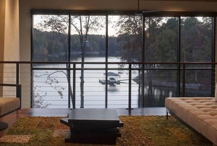 The Glass House on Lake Keowee - Sunset, South Carolina