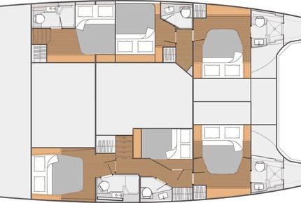 TradeWinds 52ft 5 Cabin Crewed Catamaran Cruising Class - St. Martin Sailing Vacation - Marigot, Netherlands Antilles