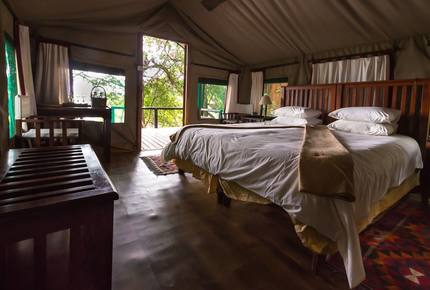 A Meru Safari Tent at the Ichingo River Lodge