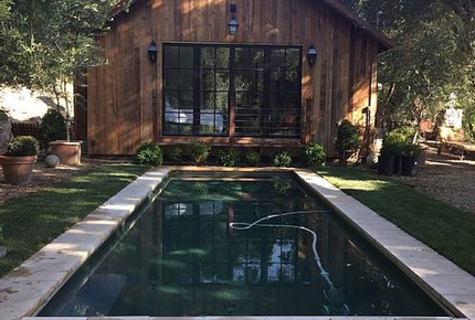 Modern Barn with Vineyard Views