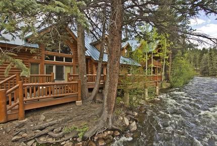 Riverfront Log Home Estate